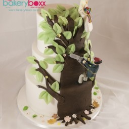 Arborist / Tree Surgeon Three Teir Wedding Cake