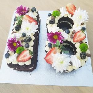 Naked number cake