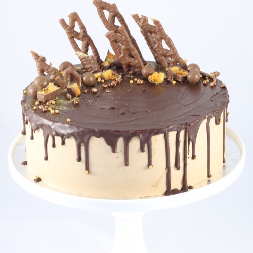 Chocolate topped Chocolate Drip Cake.