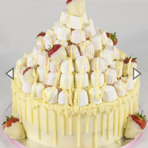 Marshmellow Tower Cake