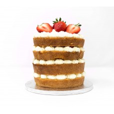 Fresh Cream and Strawberry Cake