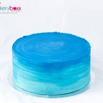 Ombre Cake with strawberry sponge