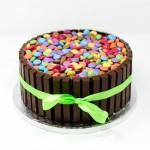 Chocolate Kit Kat and Smartie Cake