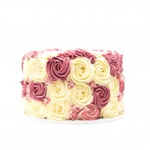 Celebration Cake with Rose Buttercream