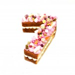 Naked Single Digit Number Cake