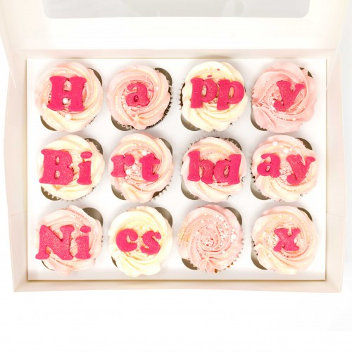 12 x Personalised Birthday Cupcakes