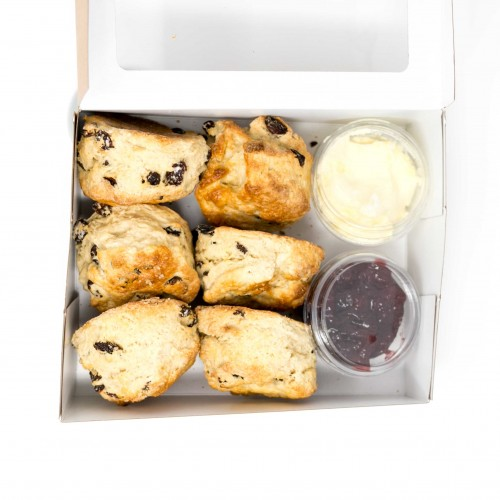 Fruit Scones x 6 with Jam and Clotted Cream