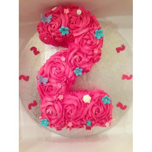 Single Number Shaped Birthday Cake