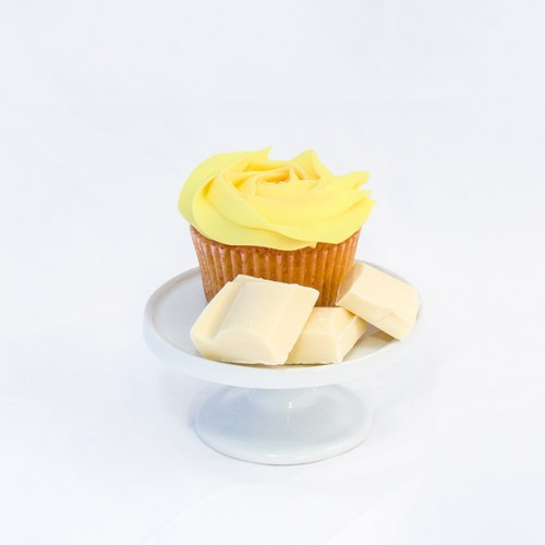6 x Lemon Cupcakes and White Chocolate Chunks and Lemon Buttercream