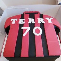 Bournemouth football shirt cake